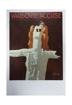 Vintage Paul Colin Poster, Varsovie Accuse And Paris, Vintage Poster Print, Jack Rennert, Printed In The United States Of America,1977 on Etsy, $15.00
