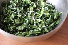 Pin for Later: From Soups to Smoothies: 19 Recipes For Kale Kale Caesar Salad An eggless kale caesar salad is a healthy (and addictive!) alternative to a standard caesar, with less calories and more hearty greens.