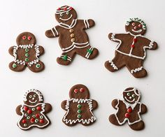 Chocolate Gingerbread People  For a fresh twist on classic gingerbread cutouts, add chocolate to the mix. Dress them up with Powdered Sugar Icing and your favorite candies.  See Chocolate Gingerbread People recipe