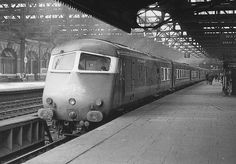 British Railways Blue Pullman is seen departing Platform 5 wrong road at the head of the 1 00pm service from Snow Hill to Paddington on 11th October 1966