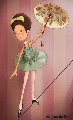 made by: Nina de San , illustration - (Tightrope walker)