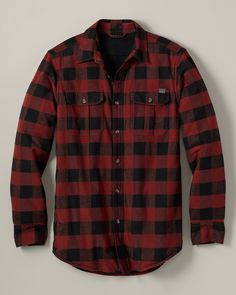 Relaxed Fit Fleece-Lined Flannel Shirt Jacket | Eddie Bauer