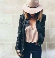 A good leather jacket goes with everything xx Shop yours now on Effinshop.com