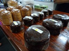 Kiwi Kai's steam pudding and rewena bread at the rear.