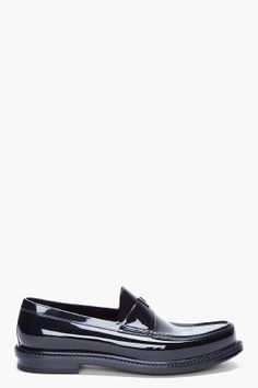 SS 2012 LOOK - SHOES    YVES SAINT-LAURENT BLACK SHOW LOAFERS