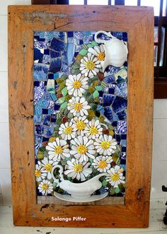 Mosaik art by: Solange Piffer. Mosaic Artwork, Mosaic Wall Art, Tile Art, Mosaic Tiles, Mosaics, Tiling, Mosaic Crafts, Mosaic Projects, Mosaic Designs