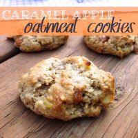 Caramel Apple Oatmeal Cookies | Yes to Yum
