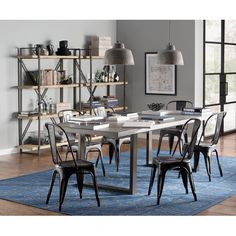DINING: // Koh Blue Area Rug