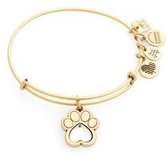 Alex and Ani Women's Prints Of Love Adjustable Wire Bangle