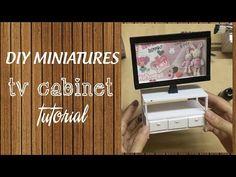 DIY Miniature TV Cabinet Tutorial   How to make a miniature TV Cabinet for your Barbie Doll - YouTube