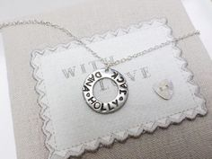 Personalised Sterling Silver Hand Stamped Washer Charm