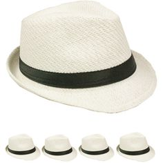 984a496b62c Straw Fedora Hats with your imprinted Logo or Text