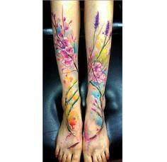 Akwarelowy tatuaż - 35 HOT wzorów na ręce, nogi i plecy - Strona 29