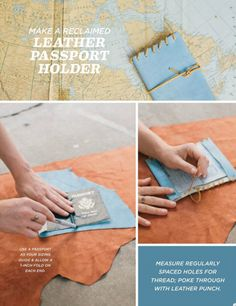 diy leather passport holder and luggage tassel