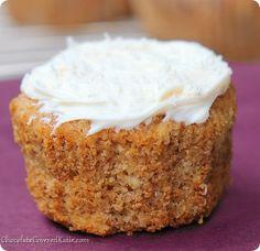 Hummingbird Cupcakes | FaveGlutenFreeRecipes.com (gluten free desserts, hummingbird cake recipe, gluten free cupcakes)