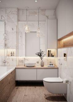 Apartment Bathroom Design, Small Apartment Interior, Condo Interior, Bathroom Design Luxury, Modern Bathroom Decor, Bathroom Layout, Modern Bathroom Design, Home Interior Design, Minimalist Bathroom Design