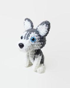 Siberian Husky Puppy Plush Crochet Dog Doll Amigurumi by Inugurumi, $32.00