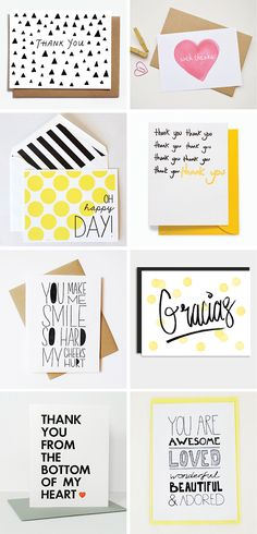DIY INSPIRATION | Thank You Cards