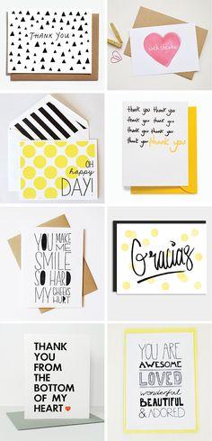 DIY INSPIRATION | Thank You Cards