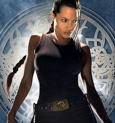 Lara Croft - badass....