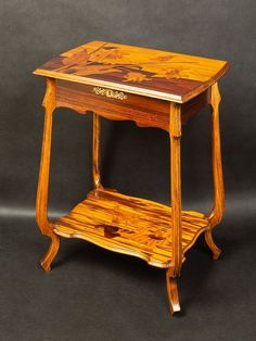 Coffee table - Catawiki Small Dressing Table, Art Nouveau Furniture, Different Types Of Wood, A Table, Countertops, Coffee, Home Decor, Small Vanity Table, Kaffee
