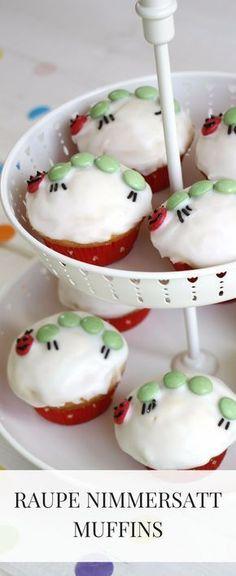 Ein Kindgeburtstag Kuchen Muss Her: Wie Wäre Es Mit Kleine Raupe Nimmersatt  Cupcakes? Die