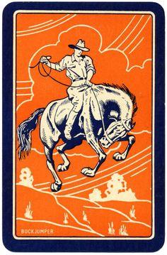 vintage cowboy card