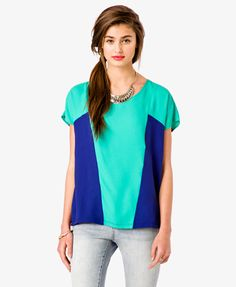 Colorblocked Dolman Top | FOREVER 21 - 2034727188