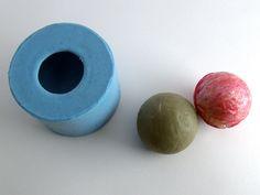 Molde de Silicone Esfera- Arte de Modelar - Arte de Modelar