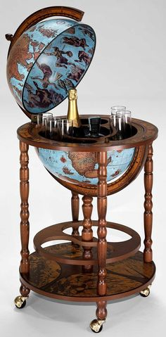 Authentic Italian Century Vintage Bar Globe Replica On Casters Available Now At World The S Largest Dedicated Globes