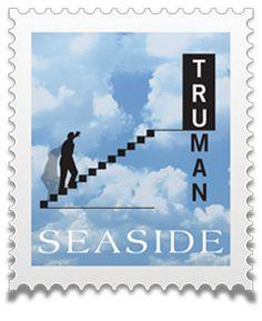 Seaside, Florida · 30A · 30-A · Santa Rosa Beach, FL · South Walton · SOWAL + Movie - Film The Truman Show + Jim Carrey