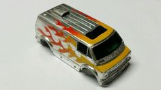 Tyco Chrome w/Yellow Flames SuperVan HO Scale Slot Car Body Free S&H - http://hobbies-toys.goshoppins.com/slot-cars/tyco-chrome-wyellow-flames-supervan-ho-scale-slot-car-body-free-sh/