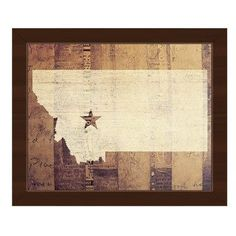 "Click Wall Art 'Montana Rustic' Framed Graphic Art Frame Color: Espresso, Size: 8"" H x 10"" W x 1"" D"