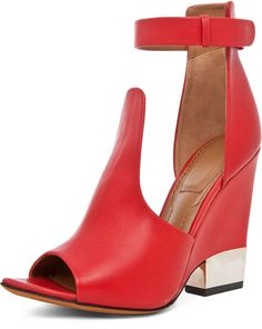 Givenchy Podium Ankle Strap Sandal in Nappa Red - Lyst