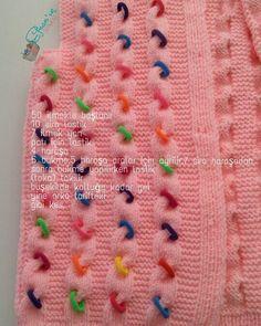 Lastik Tokalarla Bebek Hırkası Yapılışı Knitting Terms, Intarsia Knitting, Knitting Blogs, Knitting Kits, Crochet Table Runner Pattern, Crochet Bikini Pattern, Crochet Blanket Patterns, Baby Knitting Patterns, Crochet Baby Sweaters