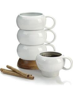Nambe Bulbo Mug Stack, Set of 4 ❤ Nambe LLC
