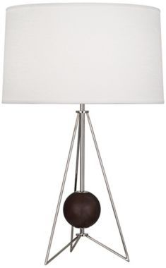 Ohai Modern Walnut with Nickel Jonathan Adler Table Lamp - Euro Style Lighting
