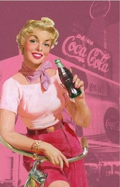 COCA COLA | Tea Towel | Pin Up Pink