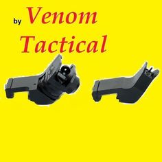 """VENOM TACTICAL EXCLUSIVE AR15 AR 15 Front and Rear 45 Degree Rapid Transition BUIS Backup Iron Sight by Venom Tactical. $27.16. For AR-15 / M16 type rifles, optical sights provide superior performance at longer ranges, but iron sights can be more effective for close-range engagements. However, attaching an optical sight either prevents the use of iron sights or results in a setup that produces a front sight """"shadow"""" on the optical image, and/or results in problematic transitions..."""