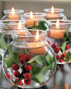Fill your home with the aroma and look of Christmas. Here are some easy, cost effective designs to brighten your home this Holiday Season. Wrap a mason jar with tree bark to bring the wintery outd...