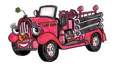 Ruby the little red fire engine