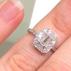 A beautiful emerald cut ring from Kay!