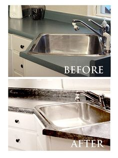 Superb I Didnu0027t Know You Could Repaint Your Old Countertops To Look Granite...Iu0027m  Storing Away This DIY Explanation To Try Later!!! | Decorating Ideas |  Pinterest ...