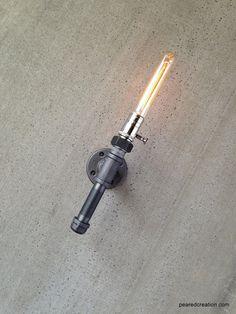 Edison Sconce Lamp  Industrial Lighting  by newwineoldbottles, $95.00