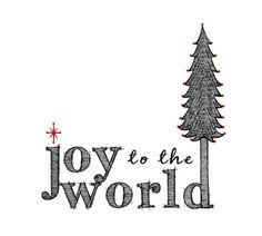 Joy to the World Christmas Card Set of 10 by BubbyAndBean on Etsy