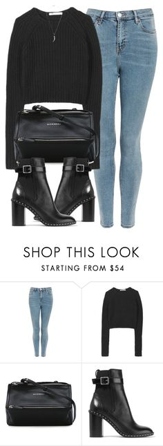 """Untitled #7092"" by laurenmboot ❤ liked on Polyvore featuring Topshop, T By Alexander Wang, Givenchy, rag & bone and Shaun Leane"