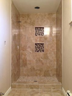 A tub surround we installed 12x24 porcelain tile on a - Tiling a bathroom wall on drywall ...
