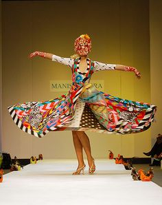 Manish Arora - love this designer his collections just burst with colour!!