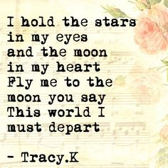 #Poetry #Moon #Stars #Depart