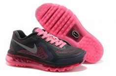 separation shoes 4d05e f134c Nike Air Max 2014 Womens Black Hot Pink Green Shoes Black Running Shoes, Air  Max